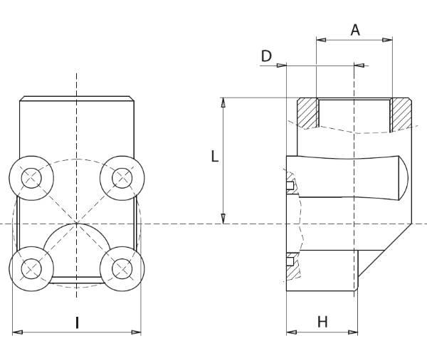 Bild för kategori 90° pumpanslutningsfläns aluminium