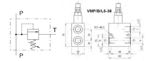 Bild för kategori Walvoil VMP-B-L tryckbegränsningsventil