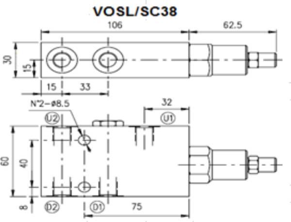 Bild för kategori Walvoil VOSL overcenterventil enkel