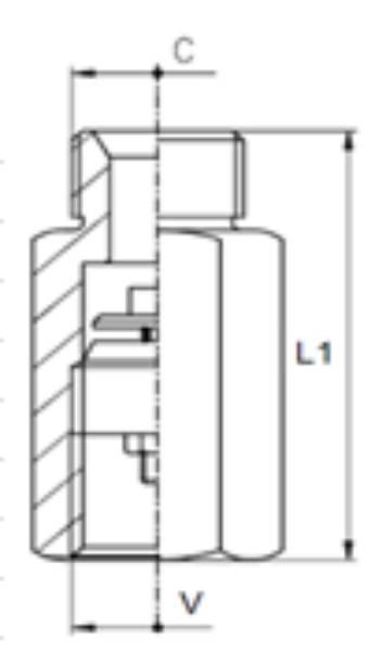 Bild för kategori Slangbrottsventil ventilhus