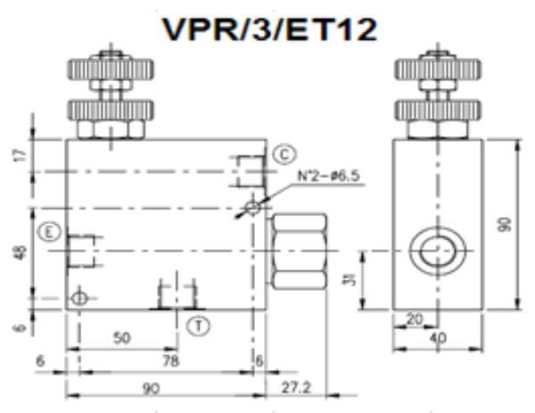Bild för kategori Walvoil VPR/3ET prioriteringsventil