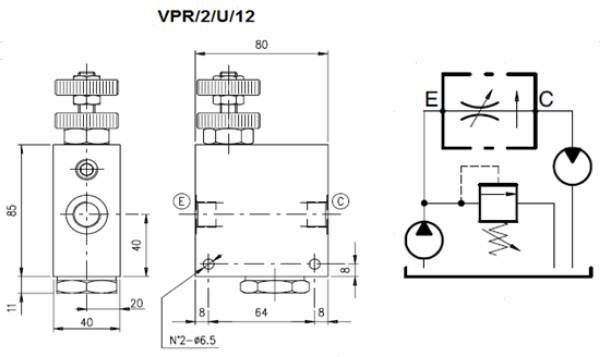 Bild för kategori Walvoil VPR/2 prioroteringsvenyil