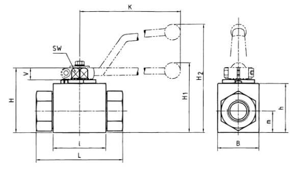 Bild för kategori Kulventil syrafast högtryck avstängning
