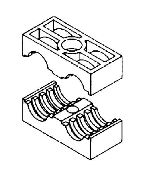 Bild för kategori Rörklammer dubbel DSLK-PA