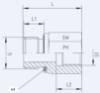 Bild på Adapter Ri 1 1/4ed x 1-Sy