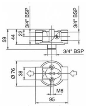 Bild på Filterhållare T-05-VO-R 3/4