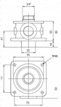 Bild på Filterhållare TF-05-VO 3/4