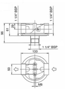 Bild på Filterhållare T10-VO-R 1 1/4