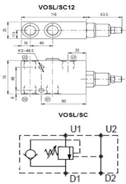 Bild på E övercent.ventil VOSL/SC12/P7