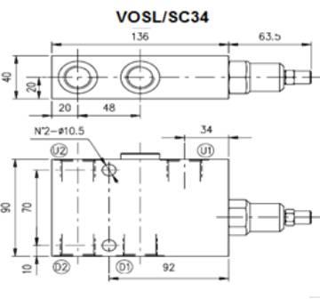 Bild på E övercenter Stål VOSL/SC34/P7