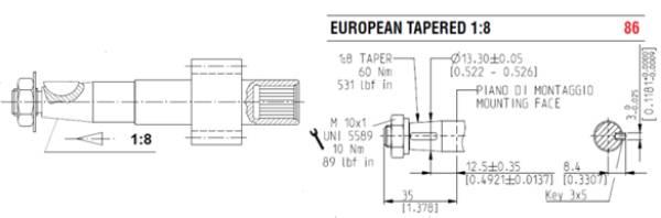 Bild på Drivaxel PL10-3,15cc typ 86/FS