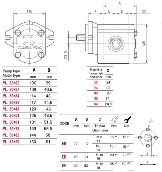 Bild på Kugghj.pump PLP30-27-D-83E3