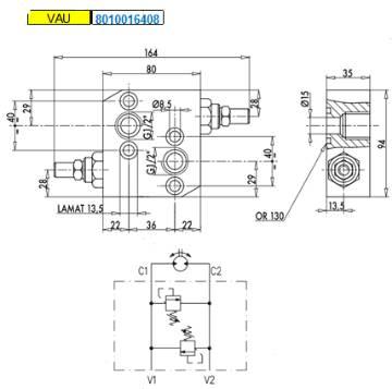 Bild på Crossover VAU 1/2 OMP/R 20-100