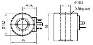 Bild på C45-01 Magnetspole 12VDC 33W